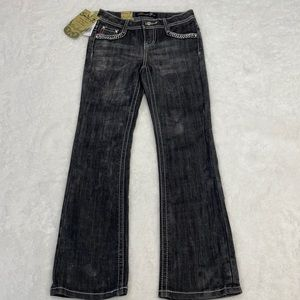 NWT Seven 7 For All Mankind Black Jeweled Jeans